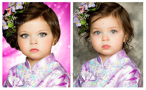 Pageant Retouching Photo Examples - A Moment in Time